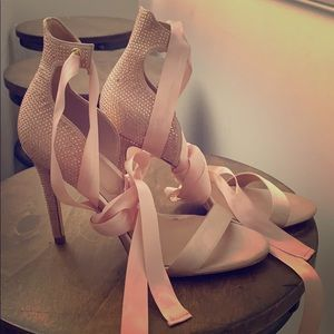 WORN ONCE! Tie up princess heels!